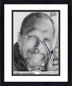 JORMA KAUKONEN HAND SIGNED 8x10 PHOTO+COA      JEFFERSON AIRPLANE      TO MIKE