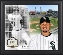 """Jose Abreu Chicago White Sox Framed 15"""" x 17"""" Mosaic Collage with Game-Used Baseball-Limited Edition of 99"""