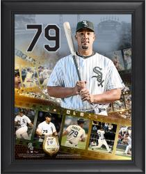 Jose Abreu Chicago White Sox Framed 16'' x 20'' Film Strip Composite with Piece of Game-Used Ball-Limited Edition of 500