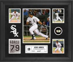 Jose Abreu Chicago White Sox Framed 5-Photo Collage with Piece of Game-Used Ball