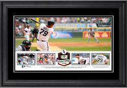 Jose Abreu Chicago White Sox Framed Panoramic with Piece of Game-Used Ball - Limited Edition of 500
