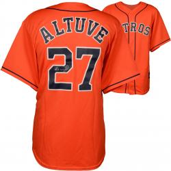 Jose Altuve Houston Astros Autographed Majestic Replica Orange Jersey
