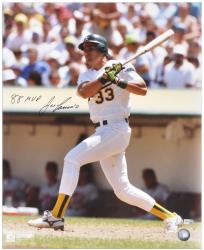 Jose Canseco Oakland Athletics Autographed 16'' x 20'' Photograph with the inscription 88 MVP Inscription - Mounted Memories