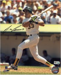 Jose Canseco Oakland Athletics Autographed 8'' x 10'' Swinging Photograph  - Mounted Memories