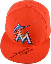 Jose Fernandez Miami Marlins Autographed Orange Cap