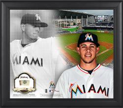 """Jose Fernandez Miami Marlins Framed 15"""" x 17"""" Mosaic Collage with Game-Used Baseball-Limited Edition of 99"""