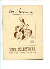 Jose Ferrer And Al Hirschfeld Charley's Aunt Broadway Signed Autograph Playbill