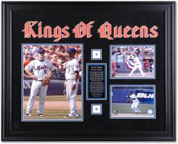 Jose Reyes and David Wright New York Mets Kings of Queens Framed Collage with Jersey Piece and Descriptive Plate - Mounted Memories