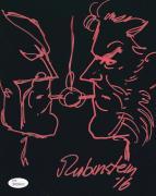 Josef Rubinstein Signed Hand Drawn Sketch 8x10 - JSA - Wolverine and Logan Joe