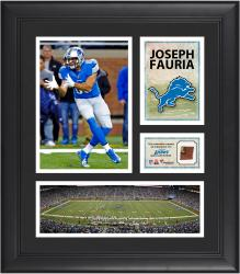 Joseph Fauria Detroit Lions Framed 15'' x 17'' Collage with Game-Used Football