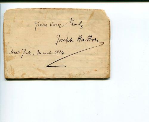 Joseph Hatton Author Playwright Journalist The Sunday Times Signed Autograph