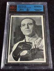 Joseph Wiseman Signed 1965 James Bond Dr No Card Autograph Jsa/bvs Bgs