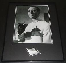 Joseph Wiseman Signed Framed 16x20 Photo Display James Bond Dr No JSA