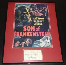 Josephine Hutchinson Signed Framed Note & Photo Display Son of Frankenstein