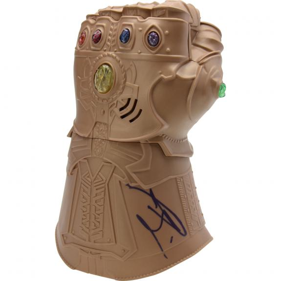 Josh Brolin Marvel Avengers End Game Autographed Thanos Replica Gauntlet - BAS