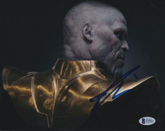 Josh Brolin Signed 8x10 Photo Avengers Thanos Beckett Bas Autograph Auto Coa C