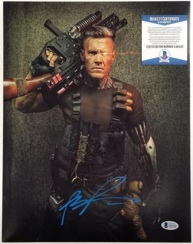 JOSH BROLIN Signed Cable 11x14 Photo Deadpool 2 Auto (A) ~ Beckett BAS COA