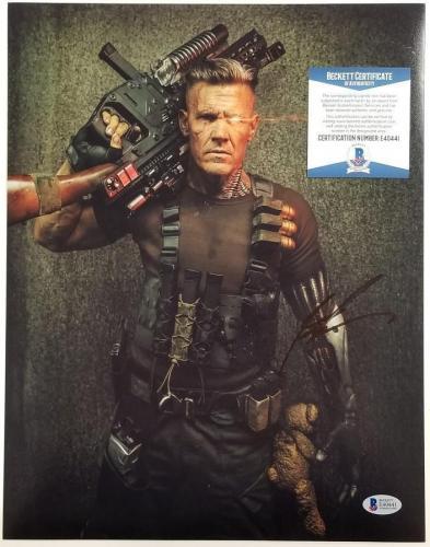 JOSH BROLIN Signed Cable 11x14 Photo Deadpool 2 Auto (D) ~ Beckett BAS COA