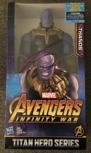 "Josh Brolin Thanos Signed Autograph ""avengers Infinity War"" Titan Figure Coa"