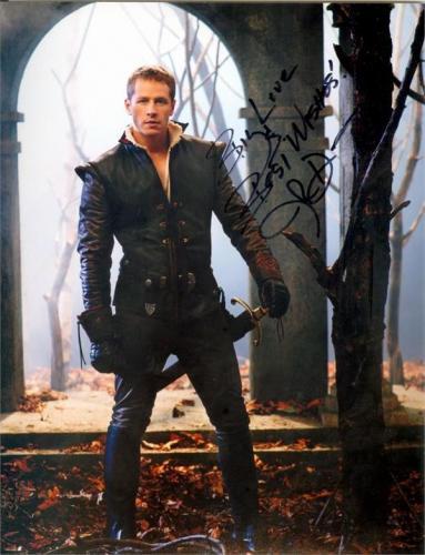 Josh Dallas autographed 8x10 photo (Once Upon A Time Prince Charming David Nolan) Image #SC1