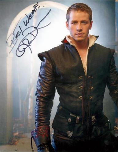 Josh Dallas autographed 8x10 photo (Once Upon A Time Prince Charming David Nolan) Image #SC3