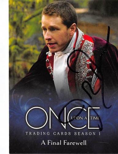 Josh Dallas autographed trading card Once Upon A Time Prince Charming David Nolan 2014 ABC #21