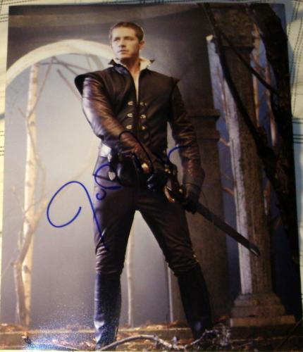 """Josh Dallas Signed Autograph """"once Upon A Time"""" Prince Charming Sword Photo Coa"""