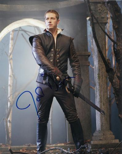 JOSH DALLAS signed (ONCE UPON A TIME) 8X10 photo W/COA *PRINCE CHARMING* #1