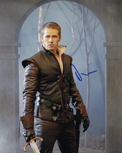 JOSH DALLAS signed (ONCE UPON A TIME) 8X10 photo W/COA *PRINCE CHARMING*  #2