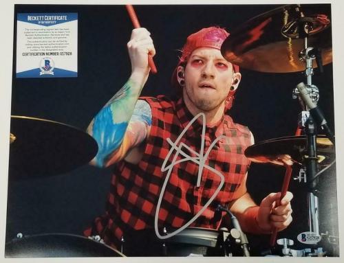JOSH DUNN Signed Twenty One Pilots 11x14 Photo Drummer Auto~ Beckett BAS COA