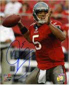 Josh Freeman Tampa Bay Buccaneers Autographed 8'' x 10'' Passing Photograph - Mounted Memories