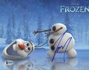 "Josh Gad Autographed 8"" x 10"" Frozen Olaf Head Roll Photograph - Beckett COA"