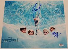 "JOSH GAD ""Olaf"" + JONATHAN GROFF ""Kristoff"" FROZEN Signed 11x14 Photo w/ PSA/DNA"