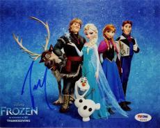 Josh Gad Olaf Signed Disney Frozen 8x10 Photo ITP PSA Pic Proof K