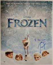 JOSH GAD Signed 16x20 Photo Inscription Disney FROZEN Voice of Olaf Auto PSA/DNA