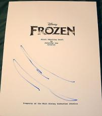 "Josh Gad Signed Autograph New ""frozen"" Full Rare 113 Page Movie Script With Coa"