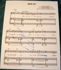 "Josh Gad Signed Autograph ""the Book Of Mormon"" Man Up Rare Sheet Music With Coa"
