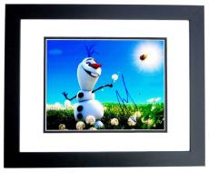 Josh Gad Signed - Autographed FROZEN 11x14 inch Photo BLACK CUSTOM FRAME - Guaranteed to pass PSA or JSA - Voice Actor who played Olaf