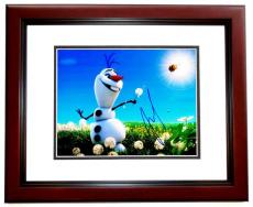 Josh Gad Signed - Autographed FROZEN 11x14 inch Photo MAHOGANY CUSTOM FRAME - Guaranteed to pass PSA or JSA - Voice Actor who played Olaf