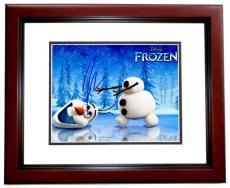 Josh Gad Signed - Autographed FROZEN 8x10 inch Photo MAHOGANY CUSTOM FRAME - Guaranteed to pass PSA or JSA - Actor who played Olaf
