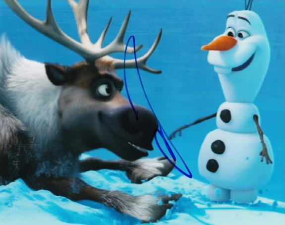JOSH GAD signed (FROZEN) MOVIE autographed 8X10 photo W/COA *OLAF* #3