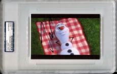"""JOSH GAD Signed Slabbed 4x6 Frozen Olaf the Snowman """"In Summer"""" Photo PSA/DNA"""