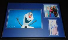Josh Gad Voice of Olaf Frozen Signed Framed 12x18 Photo Display
