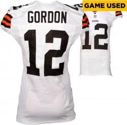 Josh Gordon Cleveland Browns White Game-Used Jersey November 23, 2014 vs. Atlanta Falcons