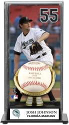 Josh Johnson Miami Marlins Baseball Display Case with Gold Glove & Plate