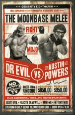 Josh Lamont Signed Dr Evil vs Austin Powers 11x17 BAM BOX Exclusive Fight Poster