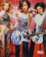 Tara Reid Rosario Dawson Josie and the Pussycats Cast Signed 8x10 Photo PSA/DNA