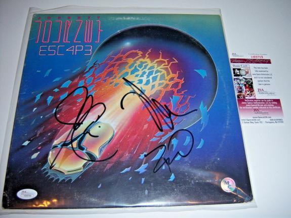 Journey Escape 3sigs Jsa/coa Signed Lp Record Album