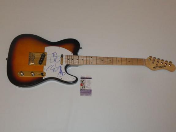 Journey Signed Electric Guitar  Arnel Pineda Jonathan Cain Ross Valory Jsa Coa
