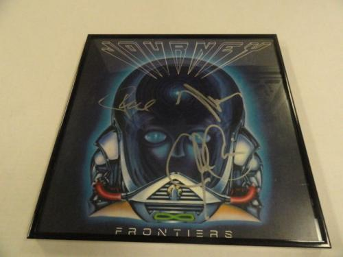 """Journey Signed Framed """"frontiers"""" Album Neal Schon Valory 3x"""